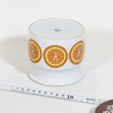 Arabia Pomona purnukka, appelsiini, suunnittelija Raija Uosikkinen, appelsiini, serikuva kuva 2