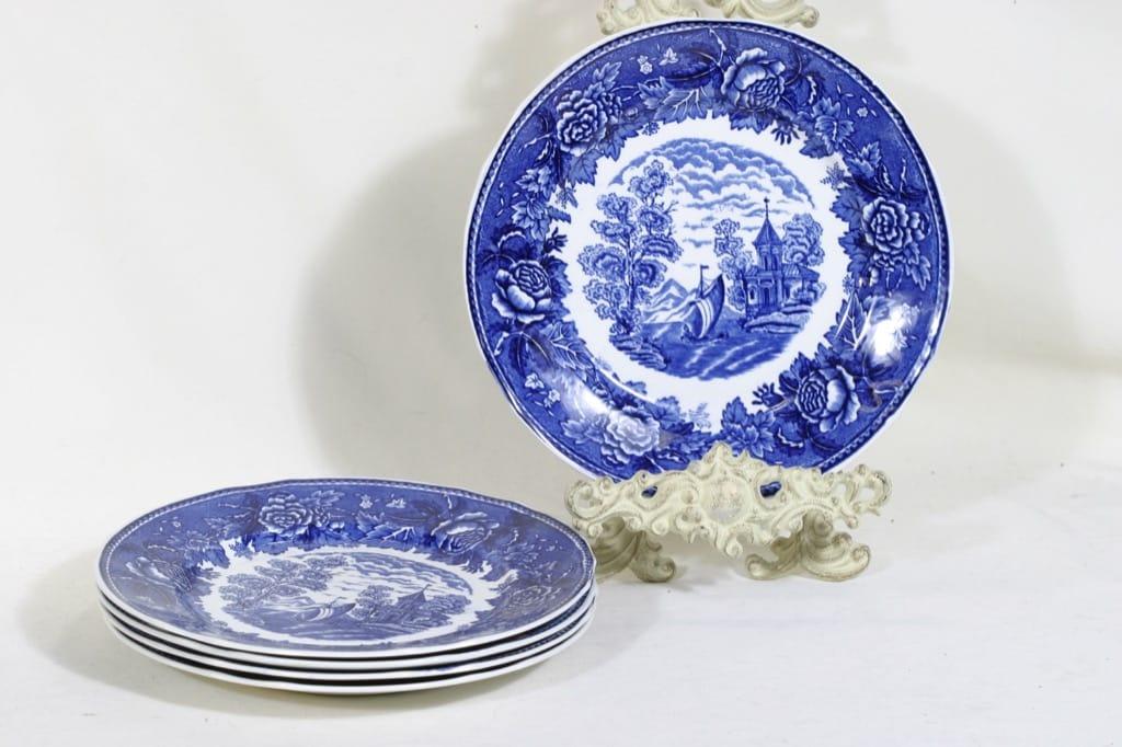 Arabia Maisema dinner plates, 5 pcs, copper ornament