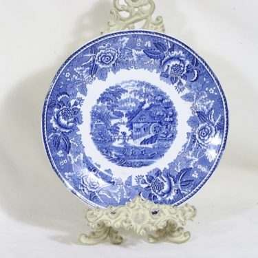 Arabia Maisema platter, blue, copper ornament