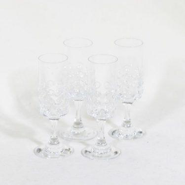 Riihimäen lasi Grappo väkeväviinilasit, 6 cl, 4 kpl, suunnittelija Nanny Still, 6 cl