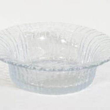 Riihimäen lasi Tupru kulho, kirkas, suunnittelija Nanny Still,