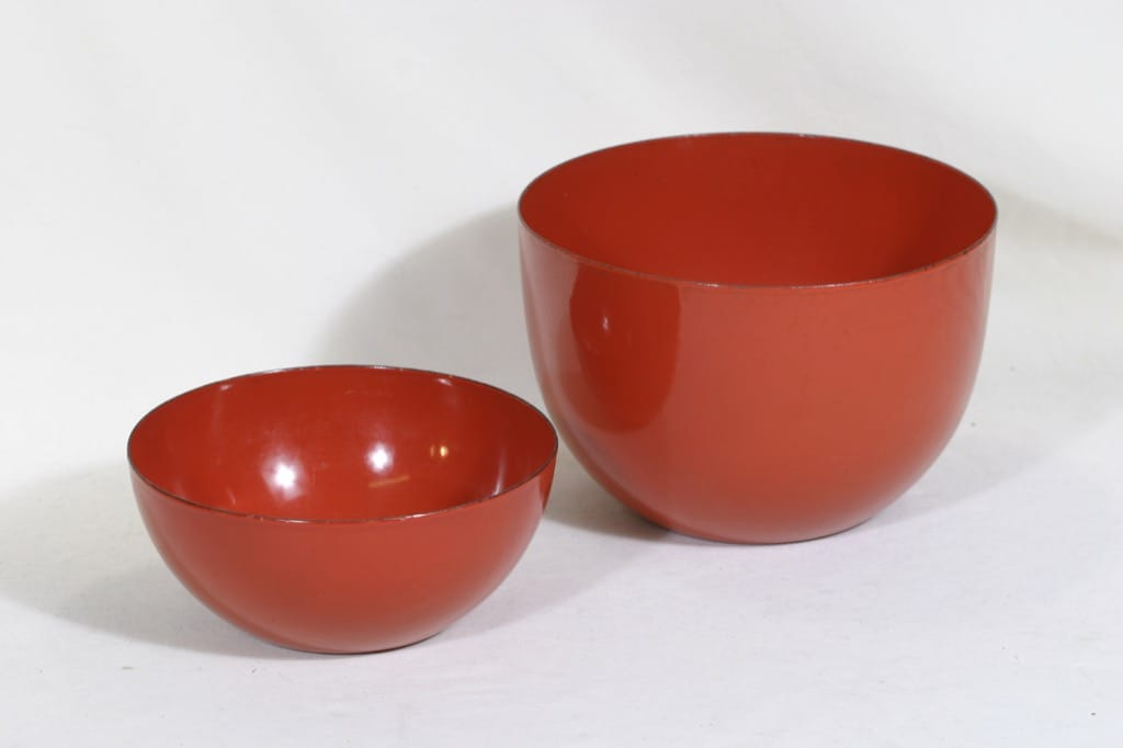 Finel kulhot, punainen, 2 kpl, suunnittelija Kaj Franck,