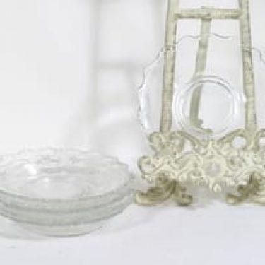 Riihimäen lasi Ludvig lautaset, kirkas, 6 kpl, suunnittelija , pieni