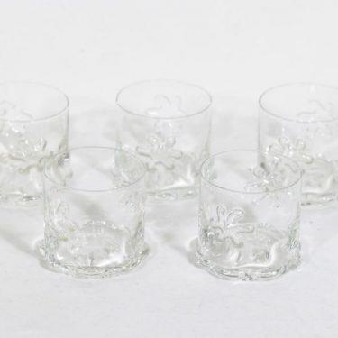 Riihimäen lasi Kasper lasit, 10 cl, 5 kpl, suunnittelija Erkkitapio Siiroinen, 10 cl, pieni