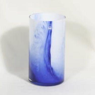 Riihimäen lasi Koralli maljakko, sini-valkoinen, suunnittelija Tamara Aladin,