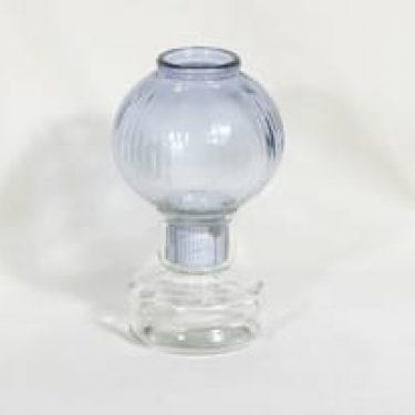 Riihimäen lasi Tuikku kynttilälyhty, siniharmaa, suunnittelija Nanny Still,