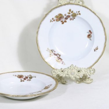 Arabia n1673 lautaset, syvä, 3 kpl, suunnittelija , syvä, siirtokuva