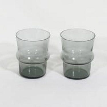 Nuutajärvi 1709 lasit, harmaa, 2 kpl, suunnittelija Kaj Franck,