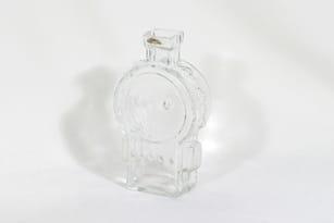 Riihimäen lasi Ahkeraliisa koristepullo, kirkas, suunnittelija Helena Tynell,