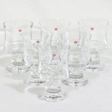 Iittala Tavastia lasit, 24 cl, 6 kpl, suunnittelija Tapio Wirkkala, 24 cl