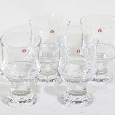 Iittala Tavastia lasit, 24 cl, 4 kpl, suunnittelija Tapio Wirkkala, 24 cl