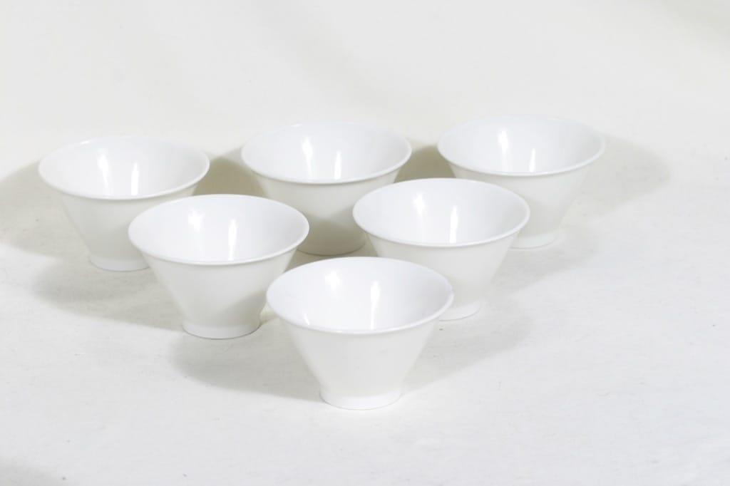 Arabia Harlekin annosmaljat, valkoinen, 6 kpl, suunnittelija ,
