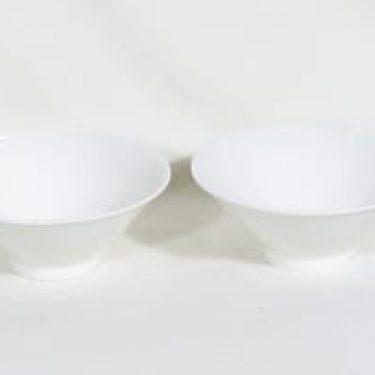Arabia Harlekin kulhot, valkoinen, 2 kpl, suunnittelija ,