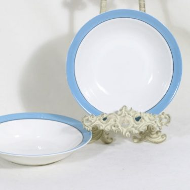Arabia Harlekin Turkos lautaset, syvä, 2 kpl, suunnittelija , syvä, raitakoriste