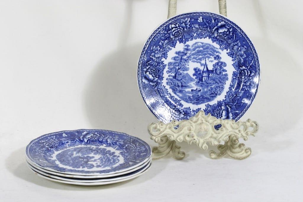 Arabia Maisema small plates, 5 pcs, copper ornament