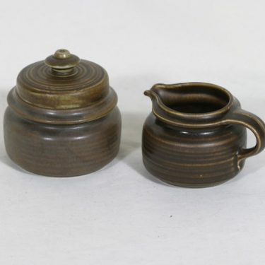 Arabia Kaarna sokerikko ja kermakko, ruskea, suunnittelija ,