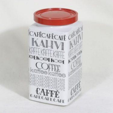 Arabia FF 3 kahvitölkki, tekstikuvio, suunnittelija Esteri Tomula, tekstikuvio, serikuva