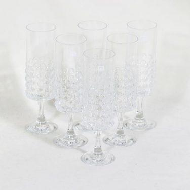 Riihimäen lasi Grappo kuohuviinilasit, 15 cl, 6 kpl, suunnittelija Nanny Still, 15 cl