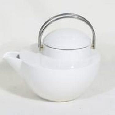 Arabia OP teekannu, valkoinen, suunnittelija Ole Palsby,