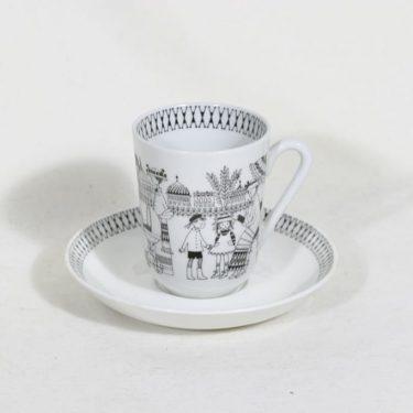 Arabia Emilia kahvikuppi, suunnittelija Raija Uosikkinen, kuparipainokoriste