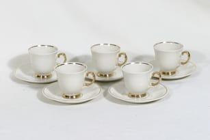 Arabia kultaraita kahvikuppi