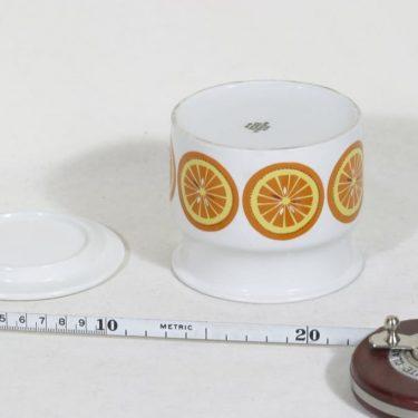 Arabia Pomona purnukka, appelsiini, suunnittelija Raija Uosikkinen, appelsiini, serikuva kuva 3