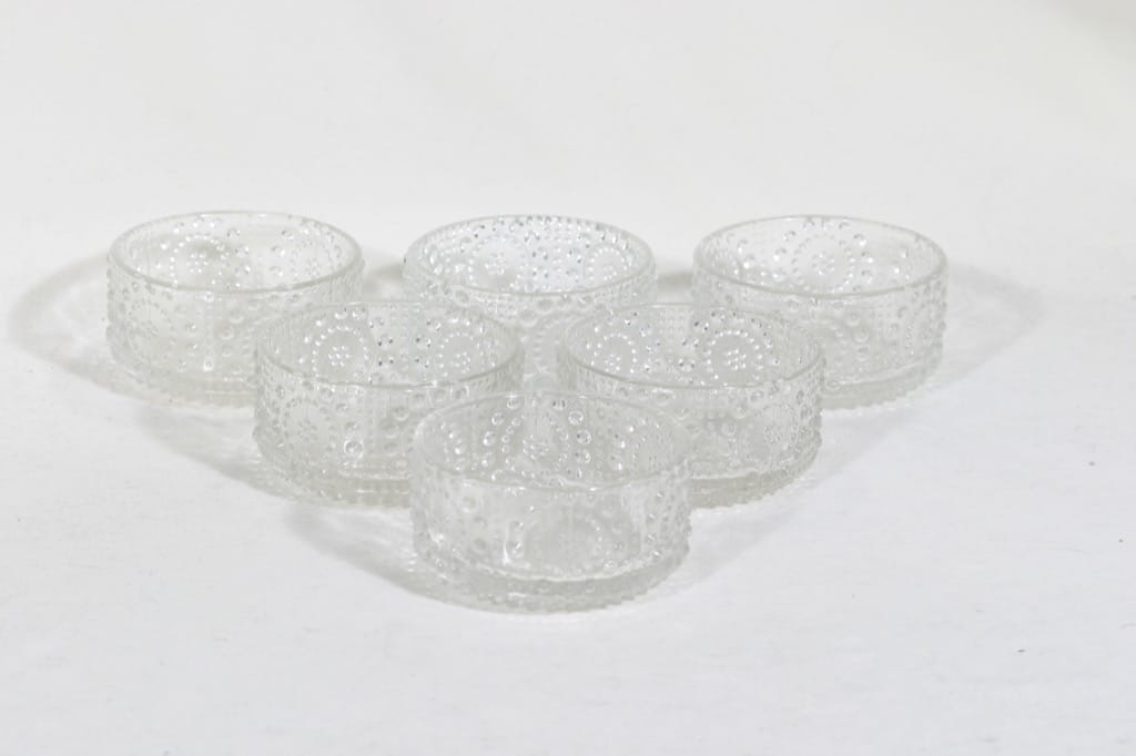 Riihimäen lasi Grapponia annosmaljat, 18 cl, 6 kpl, suunnittelija Nanny Still, 18 cl