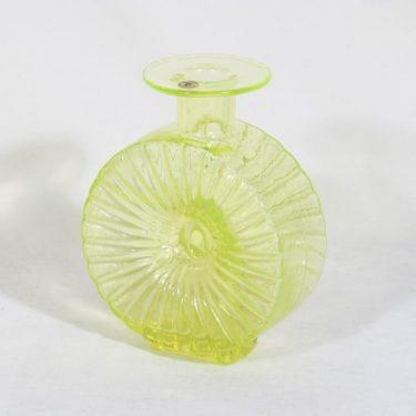 Riihimäen lasi Aurinkopullo koristepullo, keltainen, suunnittelija Helena Tynell, sävy II