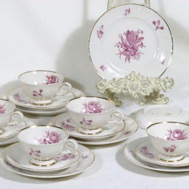 Arabia Regina kahvikupit ja lautaset, 6 kpl, suunnittelija Svea Granlund, siirtokuva