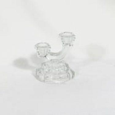 Riihimäen lasi 5897 kynttilänjalka, kirkas, suunnittelija , pieni, art deco