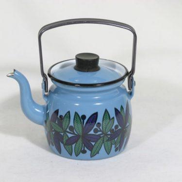 Finel Lehvä kahvipannu, sininen, suunnittelija , pieni, serikuva