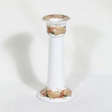 Arabia Arctica kynttilänjalka, Santa Arctica, suunnittelija Inkeri Leivo|Raimo Ranta, Santa Arctica, jouluaihe