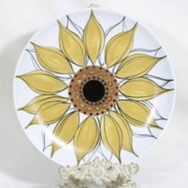 Arabia Aurinkoruusu vati, käsinmaalattu, suunnittelija Hilkka-Liisa Ahola, käsinmaalattu, suuri, signeerattu