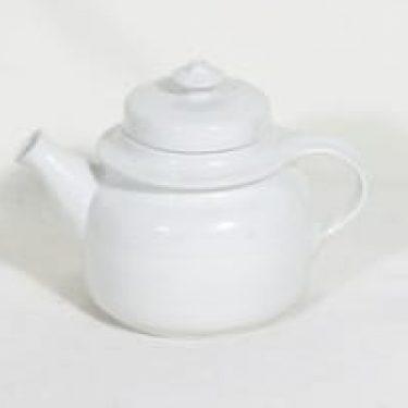 Arabia GD teepannu, valkoinen, suunnittelija , pieni, koristelematon