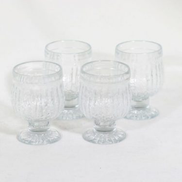 Riihimäen lasi Kehrä lasit, kirkas, 4 kpl, suunnittelija Nanny Still,