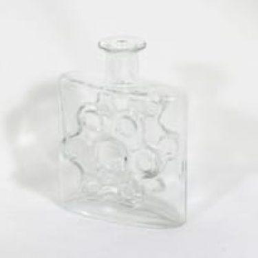 Riihimäen lasi Paukkurauta koristepullo, kirkas, suunnittelija Erkkitapio Siiroinen,