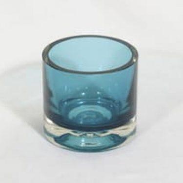 Riihimäen lasi Siniparta maljakko, signeerattu, suunnittelija Nanny Still, signeerattu, pieni