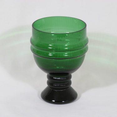 Riihimäen lasi Sulttaani maljakko, vihreä, suunnittelija Nanny Still,