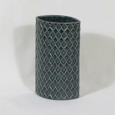 Arabia Harlekiini maljakko, vihreä|harmaa, suunnittelija Kaarina Aho,