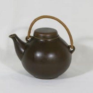 Arabia GA 3 teepannu, ruskea, suunnittelija , koristelematon