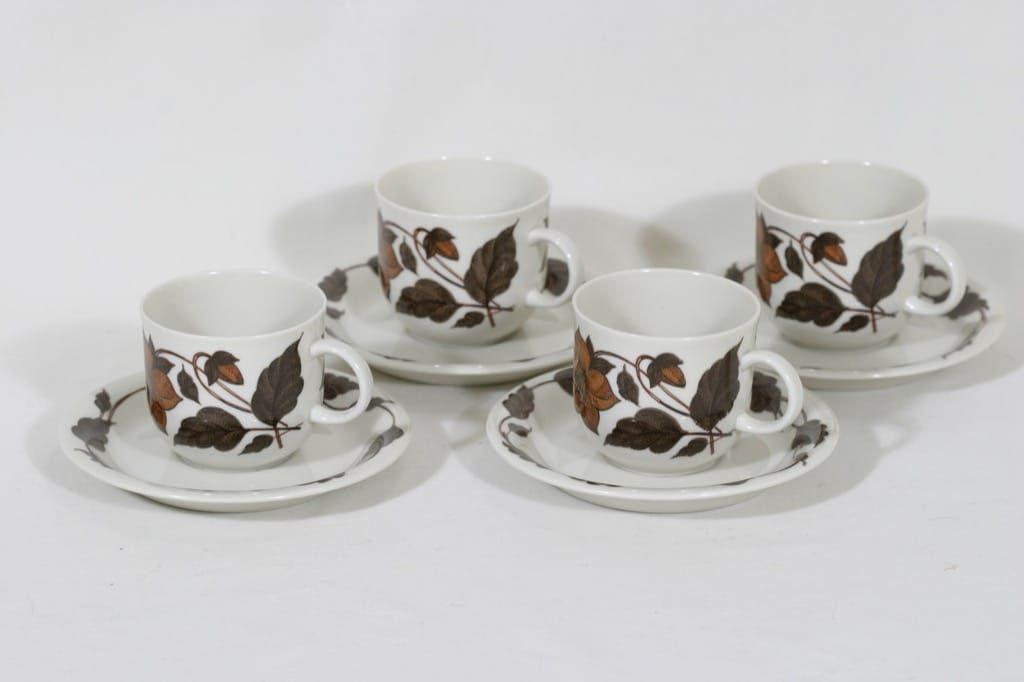 Arabia Cafe kahvikupit, 4 kpl, suunnittelija Gunvor Olin-Grönqvist,