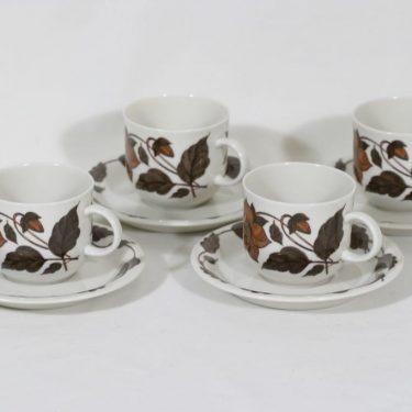 Arabia Cafe coffee cups, 4 pcs, Gunvor Olin-Grönqvist