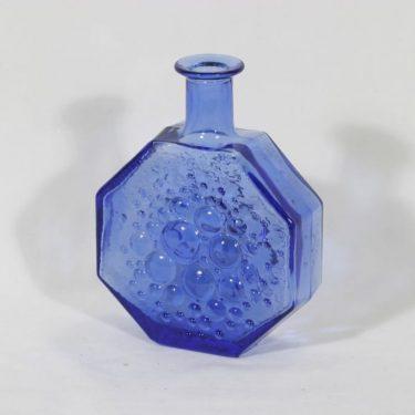 Riihimäen lasi Stella Polaris koristepullo, koboltinsininen, suunnittelija Nanny Still,