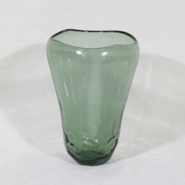 Riihimäen lasi 38/1119 maljakko, vihreä, suunnittelija Gunnel Nyman, suuri