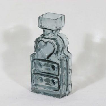 Riihimäen lasi Piironki maljakko, siniharmaa, suunnittelija Helena Tynell,