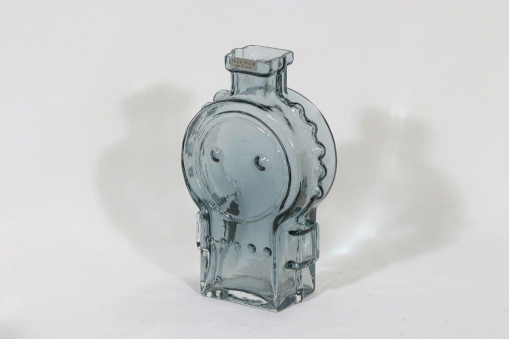 Riihimäen lasi Ahkeraliisa maljakko, siniharmaa, suunnittelija Helena Tynell,