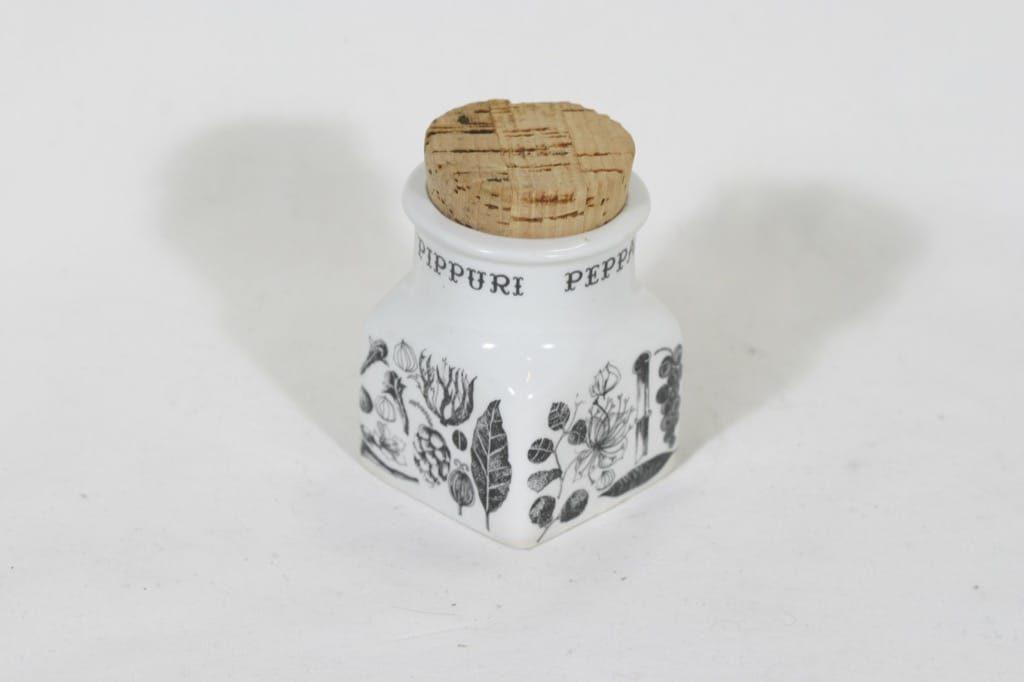 Arabia EK maustetölkki, pippuri, suunnittelija Esteri Tomula, pippuri, serikuva