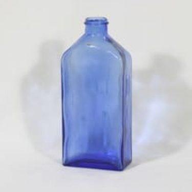 Riihimäen lasi Lankkupullo koristepullo, sininen, suunnittelija Helena Tynell,