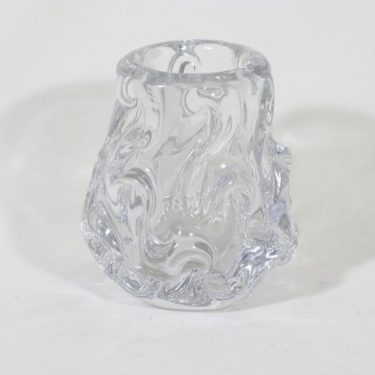 Riihimäen lasi maljakko, kirkas, suunnittelija Helena Tynell, massiivinen