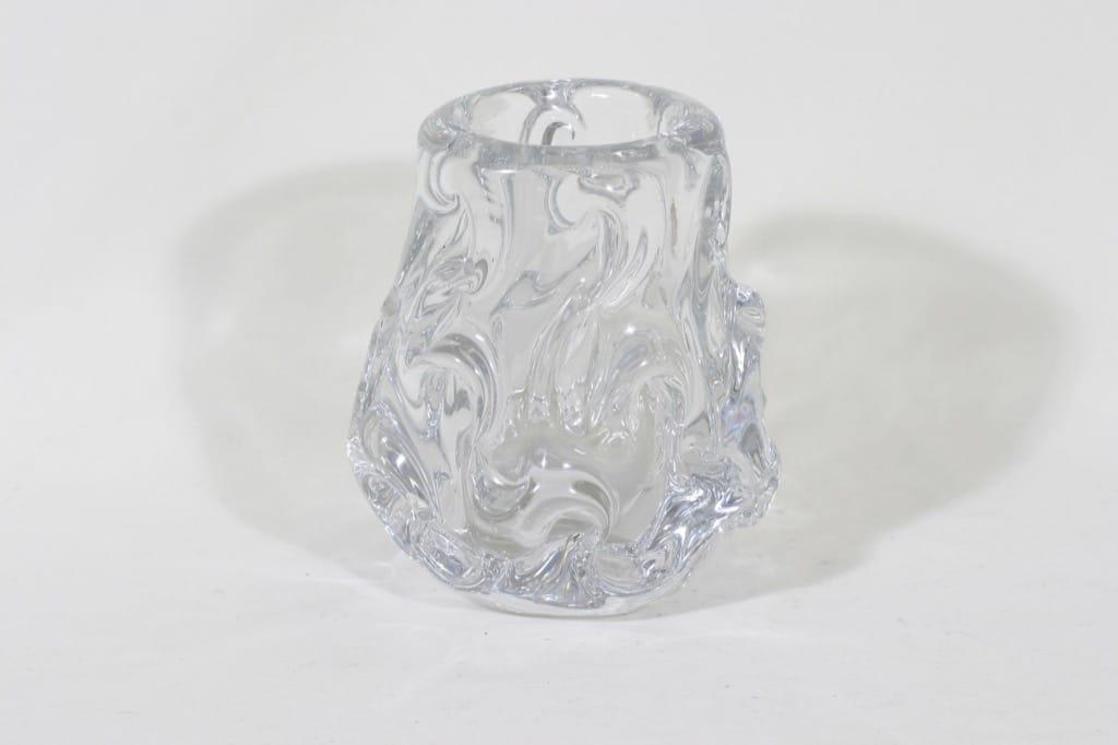 Riihimäki glass vase, clear, Helena Tynell
